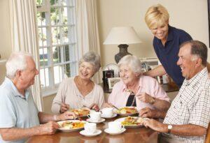 Elderly People Using Proper Utensils